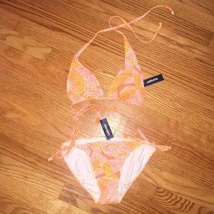 ✨New🍋Lemon🍊Tangerine String Bikini. Old Navy. Sm